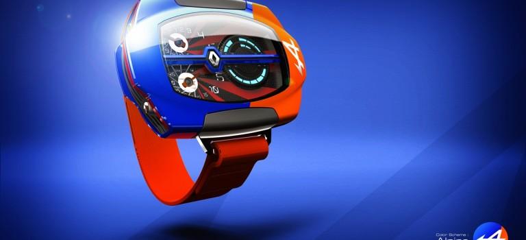 Φουτουριστικο ρολόι με βάση το Alpine A110-50