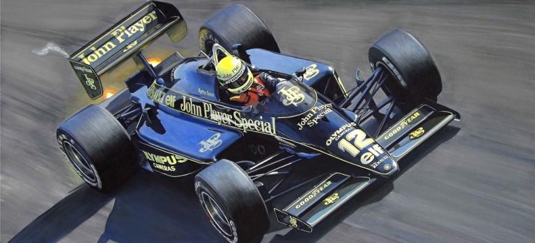 Ο Martin Brundle οδηγεί την θρυλική Lotus 98T Renault