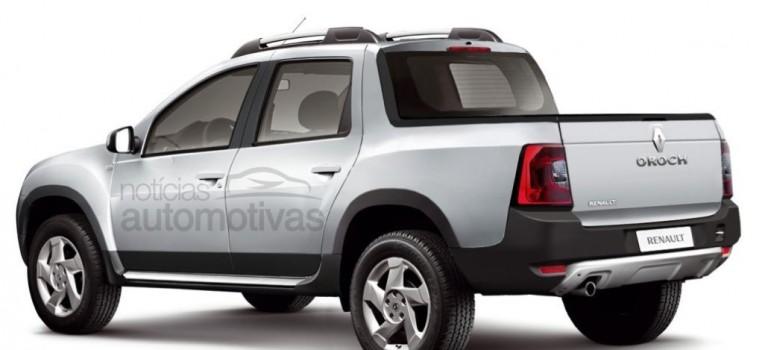 Rendering – Renault Duster Oroch (pickup)