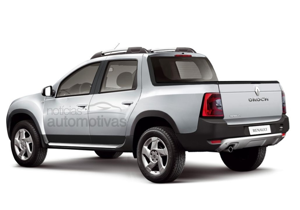 rendering renault duster oroch pickup renault news. Black Bedroom Furniture Sets. Home Design Ideas