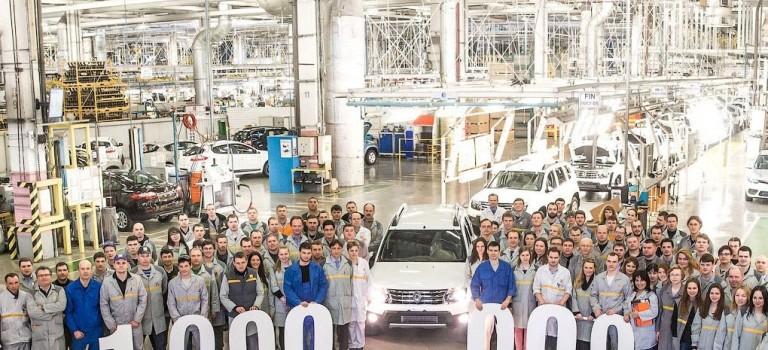 1.000.000 οχήματα έφτασε το εργοστάσιο της Renault στην Μόσχα
