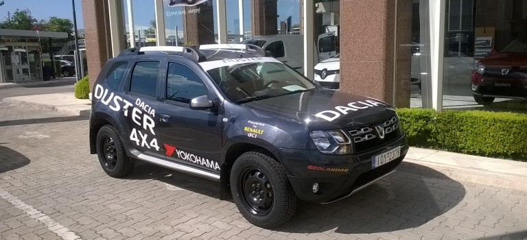Σε ρόλο πλοηγού του SEAJETS Rally Acropolis το Dacia Duster