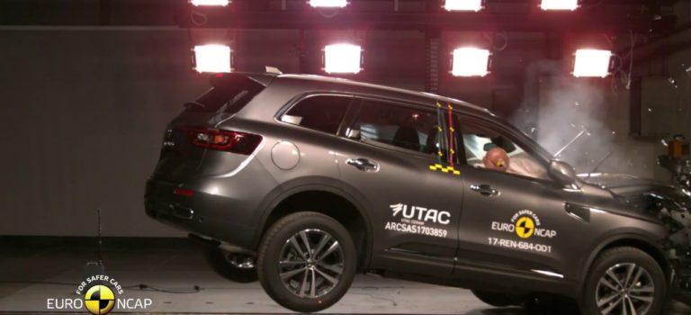 Renault Koleos II (2017): 5 αστέρια στις δοκιμές πρόσκρουσης του Euro NCAP (vid)