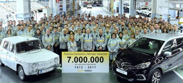 Ισπανία: Η Renault κατασκεύασε το υπ΄αριθμό επτά εκατομμύρια αυτοκίνητο στο εργοστάσιο Βαγιαδολίδ