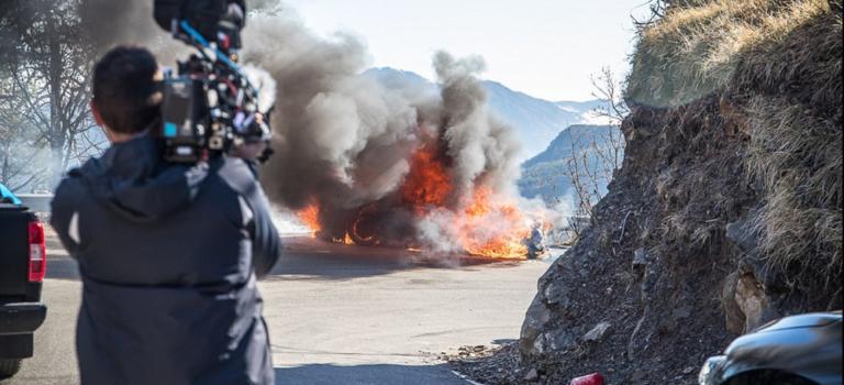 H νέα Alpine A110 τυλίχθηκε στις φλόγες κατά τη διάρκεια δοκιμών του Βρετανικού Top Gear