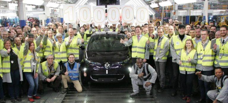 Η Renault έφτασε το ορόσημο των 100.000 ηλεκτρικών ZOE