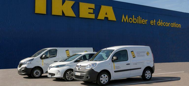 Η Renault MOBILITY παρέχει υπηρεσία ενοικίασης οχημάτων στα γαλλικά καταστήματα IKEA