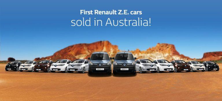Τα ηλεκτρικά αυτοκίνητα της Renault έφτασαν στην Αυστραλία