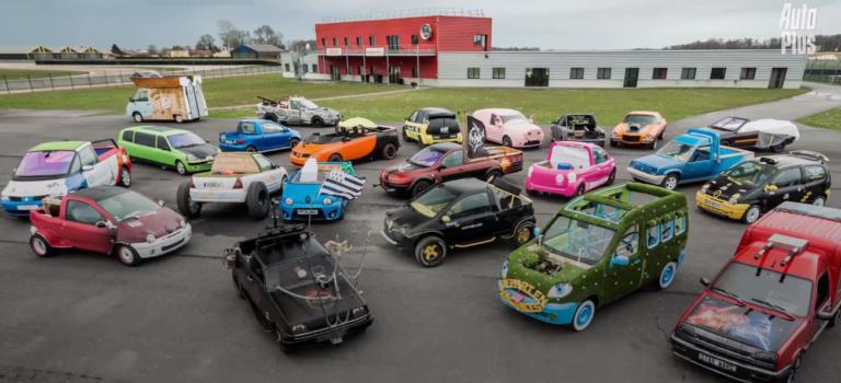 Έξαλλα τροποποιημένα Renault σε διαγωνισμό αντιπροσώπων στην Γαλλία (vids)