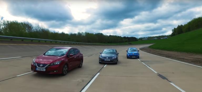 To Renault Zoe ρίχνει στο καναβάτσο τα VW e-Golf & Nissan Leaf (vid)