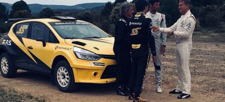 Οι Sainz, Webber και Coulthard διασκέδασαν με ένα Renault Clio N5