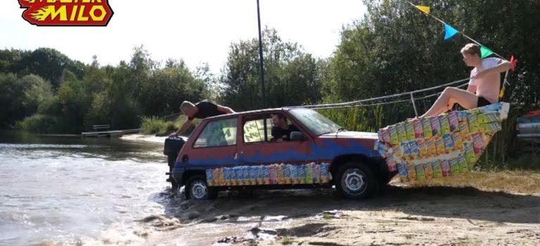 Η απίθανη μετατροπή ενός Renault 5 σε αμφίβιο όχημα (vid)