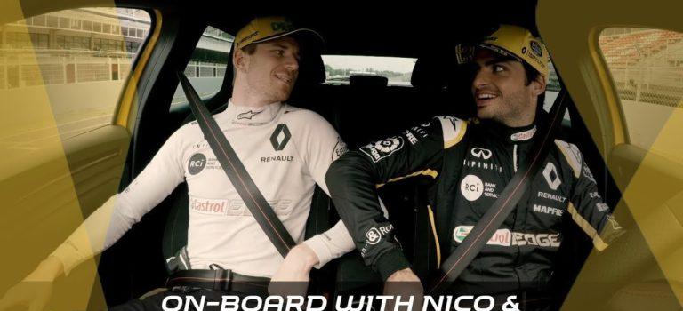 Sainz και Hülkenberg στο τιμόνι του Renault Megane RS (vid)