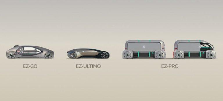 EZ-GO, EZ-PRO, EZ-ULTIMO, η τριλογία της κοινής κινητικότητας σύμφωνα με την Renault