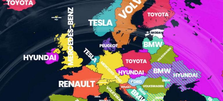 Google: τα πιο δημοφιλή εμπορικά σήματα αυτοκινήτων ανά χώρα το 2018 | Σε ποιες χώρες ηγείται η Renault