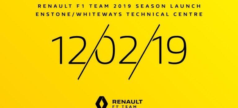 F1 | Στις 12 Φεβρουαρίου 2019 η παρουσίαση της νέας Renault RS19