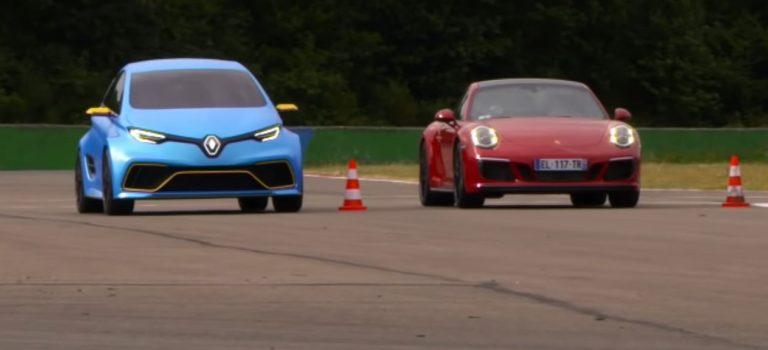 Renault Zoe E-Sport vs Porsche 911 Carrera GTS : To «πρησμένο» Zoe κοιτάζει στα μάτια την εξαιρετική 911 GTS